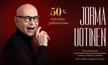 Tanssija, laulaja, koreografi ja televisiopersoona Jorma Uotinen – 50-vuotistaiteilijajuhlakonsertti | Pori