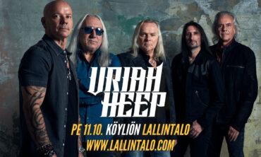 Legendaarinen Uriah Heep palaa Köyliön Lallintalolle 30 vuoden jälkeen!